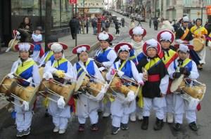 Korean children drummers
