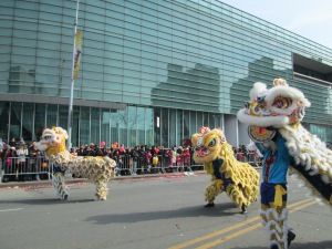 Dancing Lions in Flushing