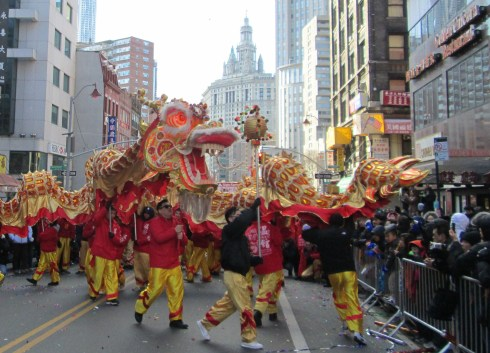 Goldren Dragons in Chinatown
