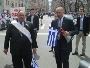 Sen Schumer and Parade Leader