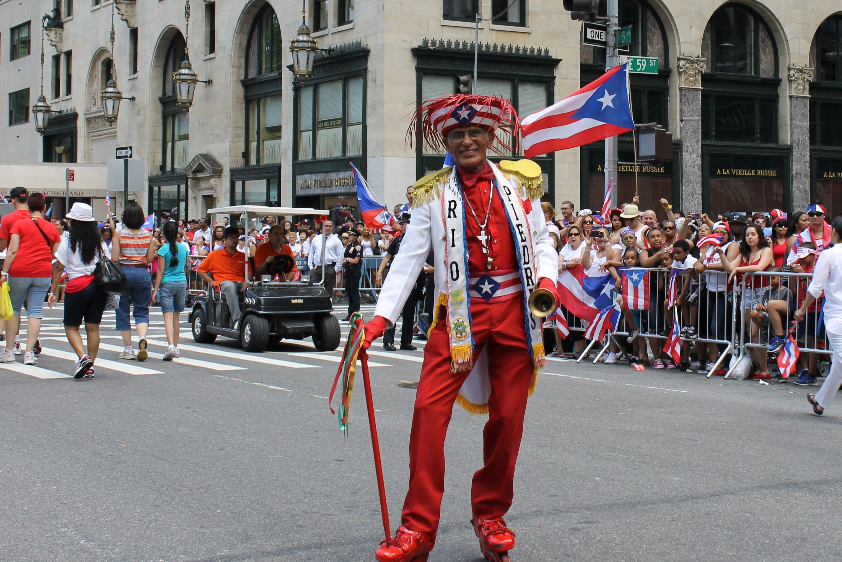 Puerto Ricans Bring Their Flags To Fifth Ave Nyc Parade