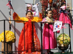 Girl on the Korea Times Float