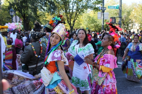 Panamanians Enjoying the Parade