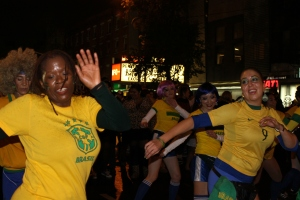 Samba dancers having fun