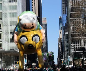 Jake and Finn chased by Buzz Lightyear