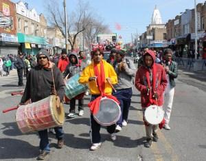 Jamming at the parade
