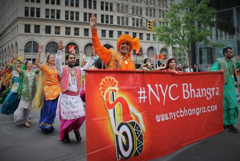 Bhangra Dancers Having Fun