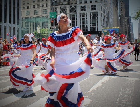 Dancing at the Puerto Rican Day Parade