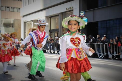 Bolivian Dancer in Training